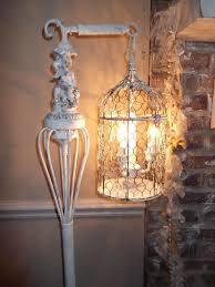 easy chic floor lamp bird cage chandelier vintage light