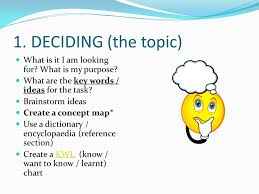 think of research as a river deciding the topic what is it i  deciding the topic what is it i am looking for