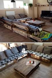 diy living room furniture. Eine RiesenSofaEcke Aus Aufbereiteten Europaletten Sogar Mit Einem Extrapltzchen Fr Die Diy Living Room Furniture E