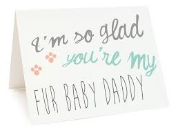Printable Father Card Fathers Day Card Fur Baby Daddy Digital Card