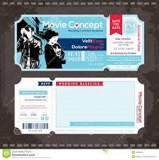 wedding invitation ticket template ticket wedding invitation design template stock vector