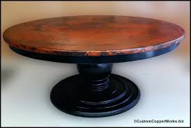 large round table round copper top dining table copper table top x x inches large table saw large round table