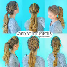 Quick Cute Ponytail Hairstyles 6 Quick And Easy Sporty Athletic Workout Hairstyles