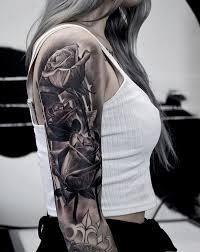 120 Meaningful Rose Tattoo Designs Tetovani Tetování Sesterské