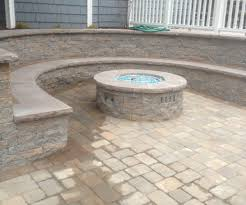 paver patio with gas fire pit. Large-size Of Howling A Gas Fire Pit Sits On Paver Patio Surrounded By With O