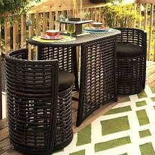 this storage savvy patio furniture tucks into a buffet tablet for extra patio space brown set patio source outdoor