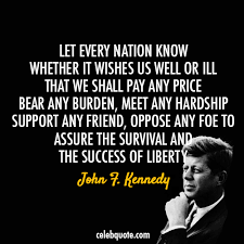 John F Kennedy Quotes Amazing John F Kennedy Quote About USA Sacrifice Country Contribute