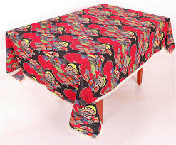 hemmed edges custom printed table covers 0 1 0 3mm thickness decorative table cloths