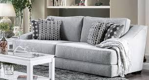 Light gray living room furniture Sectional Lesath Light Gray Sofa Main Image 1stopbedrooms Furniture Of America Lesath Light Gray Sofa Lesath Collection