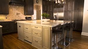 Dark Wood Kitchen Cabinets With White Island MPTstudio Decoration - Dark brown kitchen cabinets