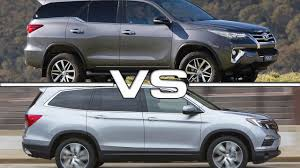 2016 Honda Pilot Vs Toyota Highlander Luxury 2016 Toyota Fortuner ...