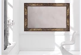 wall mirror in rectangular horizontal frame silvano grifoni
