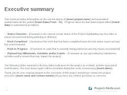 Executive Summary Format Template