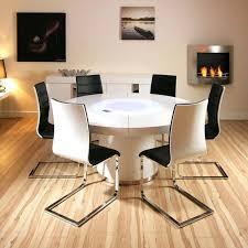 white round extending table set round extending table with 6 folding chair modern white extending table