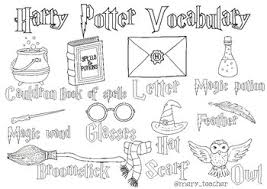 Harry james potter is the title character and protagonist created by j. Harry Potter Vocabulary Coloring Page By Mery Teacher Tpt