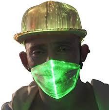 1clienic <b>LED Rave Mask Light</b> Up LED Dust Mask Glow 7 Colour ...
