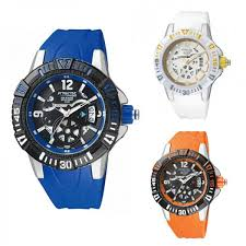 mens watch q amp q attractive by citizen silicone coloured white reloj hombre q q attractive by citizen silicona coloreado blanco azul naranja