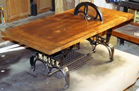 Industrial kitchen table. -- this looks like the kind of