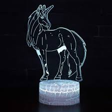 Bedroom Lighting 3d Usb Home Decoration Bedside Led Night Light Mood
