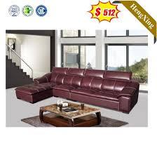 luxury red leather sofa furniture set