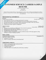 Resume Examples For Cashier Fascinating Customer Service Cashier Resume Sample Resume Tipsideas
