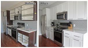 painted oak kitchen cabinets before and after. Before-and-After-Right-kitchen-cabinets Painted Oak Kitchen Cabinets Before And After