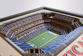 Lsu Stadium Seating Chart 3d Indianapolis Colts 25 Layer Stadiumview 3d Wall Art Lucas Oil Stadium