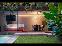 modern lighting design houses. Modern Concrete House Design With Amazing Lighting Interior Design-Barrancas Houses