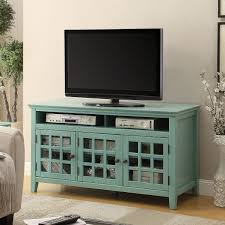 linon trqu largo  antique turquoise media cabinet tv