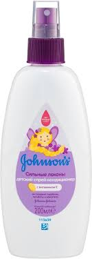 Johnson's Baby Детский <b>спрей</b>-<b>кондиционер для волос</b> Сильные ...