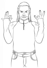 Small Picture WWE Jeff Hardy coloring page Free Printable Coloring Pages