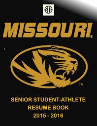Mizzou Graphic Design Program 2015 2016 Mizzou Athletics Senior Resume Book New By Kim