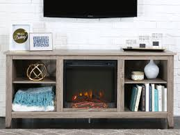 essential 58 fireplace tv console