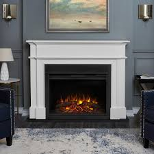 harlan grand 55 in electric fireplace in white