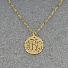 initial circle pendant for example a personalized name necklace can also be engraved with an inspirational word