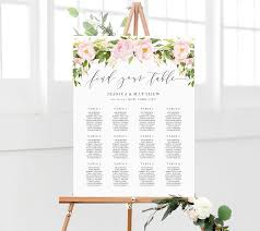 Wedding Seating Chart Wedding Seating Plan Floral Seating