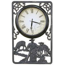 cool outdoor wall clocks at shearing cast aluminium thermometer clock 72cm