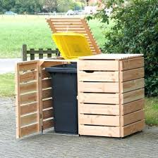 outdoor trash can. Outdoor Trash Bin Can Cabinet Galvanized Commercial Cans Gallon Garbage