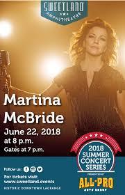 Sweetland Amphitheatre Seating Chart Get Tickets To Martina Mcbride At Sweetland Amphitheatre