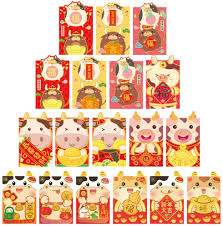 Amazon.com: ABOOFAN 36Pcs Chinese New Year Red Envelopes 2021 Zodiac OX New  Year Lucky Money Packets Chinese Red Packets Hong Bao Gift Money Envelopes  Christmas Party Gifts: Home & Kitchen