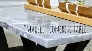 Diy Marble Concrete Table W Shou Sugi Ban Base Youtube