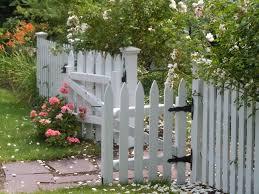white fence ideas. White Picket Fence Garden Edging - Decorating Home Ideas N