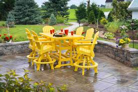 yellow patio furniture. Yellow Outdoor Dining Set By Polywood Furniture For Patio Decoration Ideas Yellow Patio Furniture