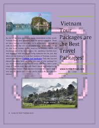 vietnam tour packages are the best