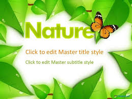 templates powerpoint gratis nature themed powerpoint templates plantilla de naturaleza ppt