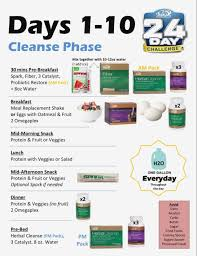 24 Day Challenge Chart Paradigmatic Advocare 10 Day Cleanse Checklist 2019