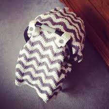 crochet pattern for chunky chevron car seat canopy cover