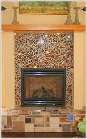 glass tile fireplace designs. glass mosaic tile fireplace surround round designs ,