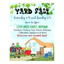 Garage Sale Flyer Template Free Community Garage Sale Flyer Template