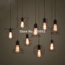 warehouse style lighting. loft lamp vintage pendant light led balck iron metal cage lampshade warehouse style lighting o